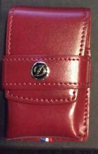 ST DUPONT RED LIGNE 2 LINE 2 LEATHER LIGHTER POUCH CASE W LACQUER D LOGO 180624