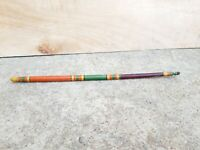 Old Original Primitive Handmade & Painted Multi-coloured Wooden Stick (D)