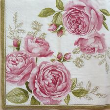 2 single paper napkins Decoupage Collection Flowers Shabby Roses