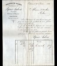 """ORLEANS (45) USINE de LINGE / MAISON DE BLANCS """"PIPROT & AUBERT"""" en 1888"""