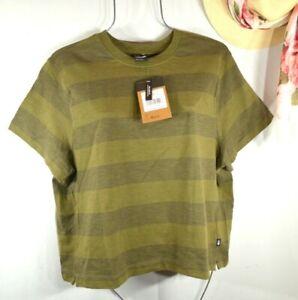The NORTH FACE Summer Green Stripe Short Sleeve T-shirt Top XL NWT