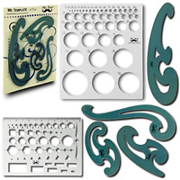 Mr. Pen- French Curve and Template Ruler Set(6 Pc), Stencils, Drawing Templat...