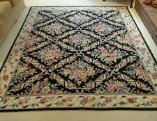 NEW 7x9 Needlepoint Rug Floral Ribbon Pattern Multi-Colored Rug