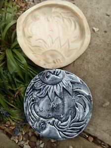 A large Latex sun and moon plaque 23cm Mould ,stepping stone,new !!