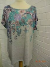 Grey Floral Tshirt from Bonmarche size 16