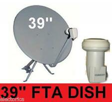 "39"" HIGH GAIN KU BAND SATELLITE DISH ANTENNA+FTA LNB 97 W 95 INTERNATIONAL"