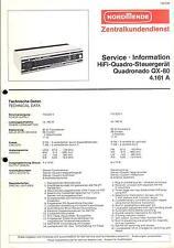 NORDMENDE original service manual pour Hifi-quadro-Dispositif de commande quadronado qx-80