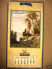 Lee union-alls Calendar  1918 RARE lee adv HOUSE MARK