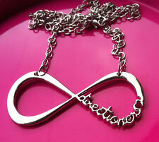 LOVE ONE DIRECTION 1D DIRECTIONER con infinito COLLANA ARGENTO + Gratis Borsa Regalo