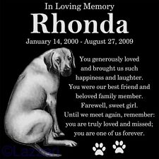 Personalized Rhodesian Ridgeback Dog Pet Memorial 12x12 Granite Grave Marker