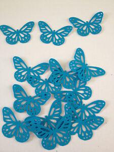 25 blue butterflies wedding crafts, scrapbooking, table confetti