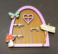 Fairy Elf Door Kit MDF craft shapes garden kids room wall decor