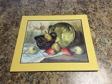Robert Chailloux Still Life With Pears Matted Lithograph Print