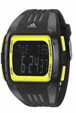 Adidas 50mm MEN'S DURAMO BLACK GREEN DIGITAL SPORTS Watch ADP3168 NEW !!