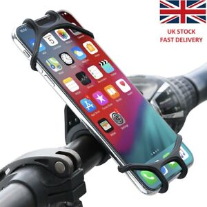 Universal Silicone Bike Phone Holder Motorbike scooter Handlebar Mount UK stock