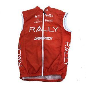 Men's 2018 Borah Rally Cycling Wind Vest, Orange, Size Small EUC
