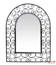 Moroccan Mirror Arch in Wrought Iron Handmade 86 cm x 66 cm