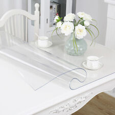 1.5mm PVC Clear Tablecloth Waterproof Transparent Desk Table Protector Cover Pad