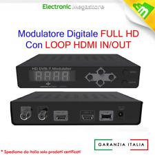 EDISION MODULATORE HDMI SINGOLO DVB-T CON DOPPIO INGRESSO HDMI E AUDIO VIDEO NEW
