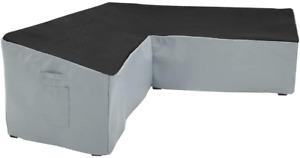Yolaka Garden Furniture Corner Sofa Set Cover Heavy Duty Outdoor V Shaped Small