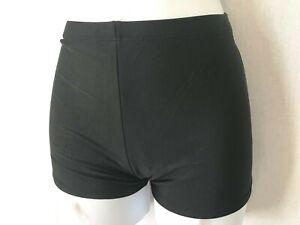Ladies Black Shorts Leg Bikini Bottoms Size 14 (L) - Briefs Plain Boy Womens New