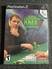 WORLD CHAMPIONSHIP POKER 2 - PS2 - COMPLETE W/MANUAL - FREE S/H - (A)
