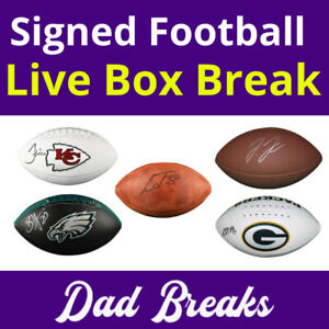 AFC SOUTH (4 NFL TEAMS) signed/autographed full-size football LIVE BOX BREAK 🏈