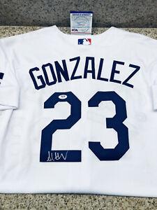 Adrian Gonzalez Signed Authentic Los Angeles Dodgers Cool Base Jersey 48 XL PSA