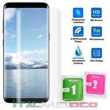 Pellicola in Vetro Temperato Curvo per Samsung Galaxy S8 3D 9H Trasparente