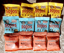 12 NEW pouch bags Sojos Freeze Dried Beef, Pork and Turkey COMPLETE Dog Food!