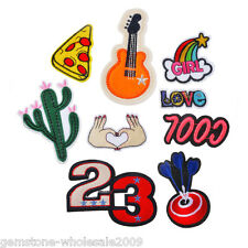 9PCs/Set Mixed Letter Cartoon Cotton Patch Iron On Garment Accessories DIY