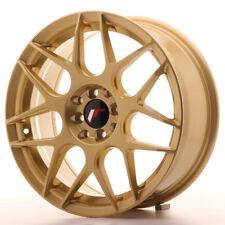 "Un Cerchio in lega Japan Racing JR18 17"" x 7"" ET40 5 x 100 / 114 Oro Gold"