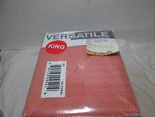 New Versatile Collection Reversible King Sheet Set  300 Thread Count - Coral