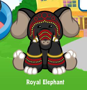 Webkinz Royal Elephant Virtual PET Adoption Code Only Messaged Webkinz Elephant!