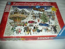 RAVENSBURGER 1000 piece jigsaw titled - XMAS SNOWY VILLAGE