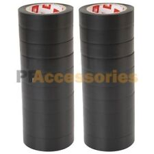 """20 Rolls 60 FT Purpose 0.7"""" Inch Vinyl PVC Black Insulated Electrical Tape LOT"""