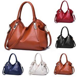Nouvelles femmes cuir Hobo sac main épaule fourre-tout Messenger sac bandoulière