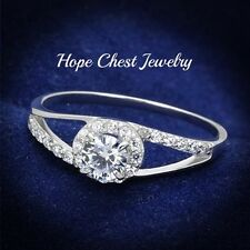 Cz Engagement Ring Sz 5,7,9 Clearance-Hcj Sterling Silver Round Cut