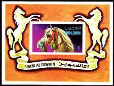 Umm al Qiwain 1972 ** Bl.36 Pferde Horses