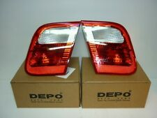 BMW 3-SERIES E46 4-DOOR RED/ClLEAR REAR INNER TAIL LIGHTS PAIR L+R 1998-2001