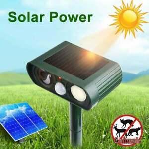 Solar Battery Cat Animal Fox Dog Repeller Repellent Scarer Deterrent Ultra Sonic
