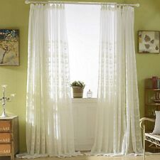 Romantic Embroidery Crochet Net Curtain Lace Tulle Voile Panel Drape Divider New