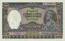 British India 'BOMBAY' 1000 Rupees King George V 1928 Reproduction