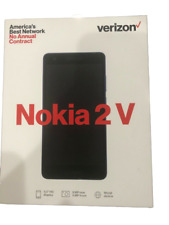 Brand New Verizon Wireless Nokia 2V 8GB Prepaid Smartphone, Black