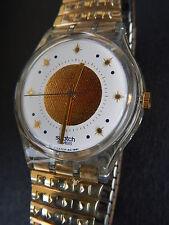 """Swatch Uhr """"Golden Waltz"""" mit Flexband 1992 NEU aber Defekt sehr selten!!!"""