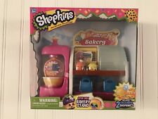 Shopkins Spin mix Bakery Stand Playset With 2 Exclusive Shopkins RARE! New