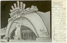c1905 Coney Island New York Entrance to Dreamland (added gold glitter)