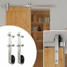 4M Wood Door Sliding Track Space-Saving Door Roller Sliding Barn Door Hardware B