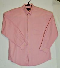 John Ashford Men's Button Down-Front Long-Sleeve Shirt  Pink Medium