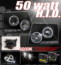97-00 TOYOTA TACOMA HALO LED PROJECTOR HEADLIGHT+HID XENON LAMP JDM BLACK PICKUP